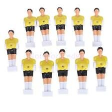 Set 11 Yellow Foosball Man Table Guys Men Soccer Player Replacement Parts 1/2''