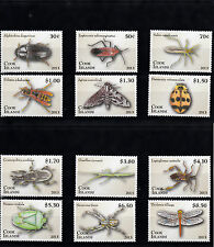 Isole Cook 2013 MNH ENTOMOLOGIA definitivo parte 1 12V Set INSETTI COLEOTTERI Moth