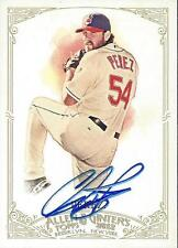 Chris Perez Cleveland Indians 2012 Topps Allen & Ginters Signed Card