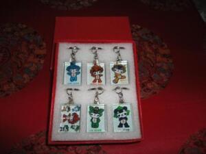 Beijing 2008 Olympics Mascots 6 Keychain Boxed Set RARE