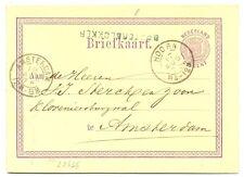NEDERLAND 1875  BRIEFKAART  - LANGST =OOSTERBLOKKER  =  PR EX