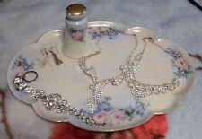 Vintage Large Ceramic Vanity Tray & Hat Pin Holder~Bavaria~Nippon
