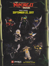 The Lego Ninjago Movie Sticker Sheet Minifigure Characters Movie Promo