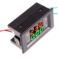 AC 300V 10A LED  Dual Digital Volt Meter Ammeter Voltage Power +Current Shunt #W