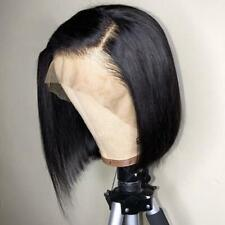 Plucked Remy Human Hair Lace Front bobo Wig Brazilian Full Wi Glueless S5O3 H0S1