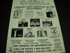 Stevie Nicks Dan Fogelberg Rush Earth Wind & Fire others Vintage Promo Poster Ad