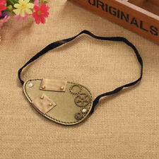 Vintage Steampunk Gear Faux Rust Iron Plate Eye Patch Pirate Cosplay Eye Patch