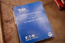 YALE Model Hi Visibility Mast Forklift Parts Service Repair Manual book catalog