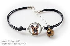 German Shepherd. Bracelet for people who love dogs. Photojewelry. Handmade. USA