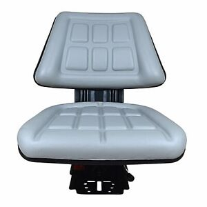 GREY TRI SUSPENSION SEAT FITS FORD/NEW HOLLAND 2000 2310 2600 2810 2910 TRACTOR