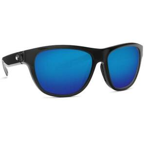 New Costa Del Mar Bayside Polarized Sunglasses 580P Black/Blue Mirror Men/Women