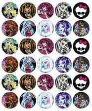 30 x Monster High Cupcake Toppers Edible Wafer Paper Fairy Cake Toppers