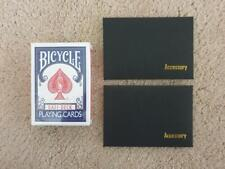 Bicycle Blue Full Gaff Deck Playing Cards Rare Limited with Accessory & Video
