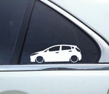 2x Lowered car outline stickers - for Ford Fiesta 5-DOOR hatch (MK7, 2008+)