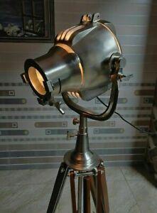 Tripod Floor Spotlight - Rough Nickel Floor Lamp Pewter Light - DDY5