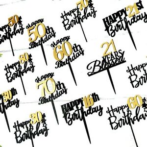 16th 18th 21st 40th 50th 60th 70th 80th Birthday Cake Toppers AU STOCK