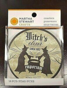 Retired Martha Stewart Halloween WITCH'S ELIXIR EMPORIUM Coasters (16) 2011 NIP