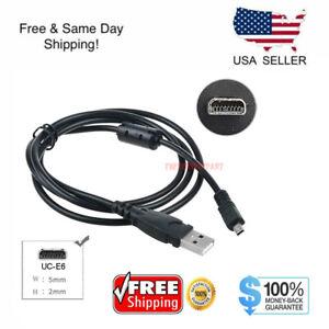 USB Cable For Nikon Coolpix L19 L20 L100 S620 UC-E6 P50 S520 S230 S220 L110 S70