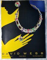 1984 DAVID WEBB Jewelry Designer Necklace Ring Earrings Vintage PRINT AD