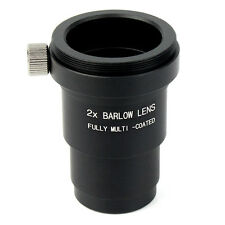 """1.25"""" 31.7mm 2X Barlow Lens Multi-Coated M42x0.75 for Telescope Eyepieces Hot ES"""
