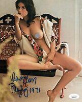 LANA WOOD Signed PLAYBOY 8x10 Photo NUDE James Bond Autograph JSA COA Cert