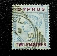 Cyprus: 1894 -1896 Queen Victoria in 2 Colors collectible stamp.
