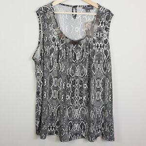 [ AUTOGRAPH ] Womens Embellished Neckline Print NEW | Size AU 26