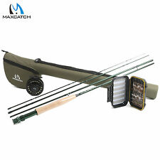 Fly Fishing Rod Combo 9FT 6WT Starter Outfit, Fly Reel, Fly Line, Box, Flies