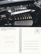 1931 BUGATTI TYPE 54 ROADSTER STRAIGHT 8 ENGINE UNUSED COLOUR POSTCARD