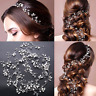 Wedding Hair Vine Bridal Accessories Crystal Pearl Headband 50CM Chain Headpiece