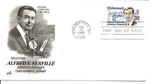 US Scott #C113, First Day Cover 2/13/85 Garden City Single Airmail