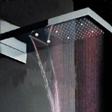 LED Color Changing Waterfall Rainfall Shower Head Square Top Over Shower Sprayer
