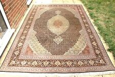 £5000 Persian Tabriz Mahi silk and wool handmade hand knotted rug 300 x 200 cm