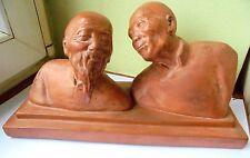 buste Terre cuite Statue  /   Signé Gaston HAUCHECORNE ( 1880 - 1945)    ( n°2)