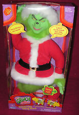 "✨New! (Vintage) HOW THE GRINCH STOLE CHRISTMAS 20"" Talking Transforming SEALED!"