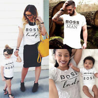 Boss Matching Family T Shirts Tshirts Christmas Mum Dad Baby Mini Boss Lady