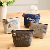 Vintage Women Canvas Coin Purse Mini Wallet Pouch Bags Card Holder Handbag Bag