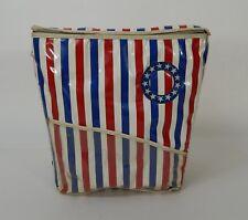 Vintage Prepac MCM Vinyl/Plastic Candy Striped Beach Cooler (Art Deco)