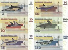 Gilbert Islands set 6 banknotes 2015 UNC (private issue)