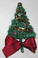 VTG 1950'S XMAS VISCA BRUSH TREE BROOCH JAPAN NOVELTY COSTUME JEWELRY PIN