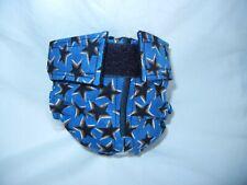 Female Dog Puppy Pet Diaper Washable Pants Sanitary Underwear BLUE STARS XSMALL