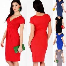Unbranded Polyester V-Neck Wrap Dresses