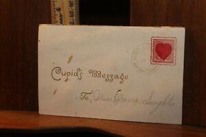 Antique Pop Up Victorian Valentine Die Cut  with Tissue Cupid's Message