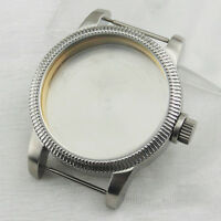 46mm PVD Watch Case Stainless Steel for eta 6497 6498 Seagull st36 Movement P516