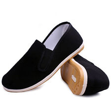 Men's Chinese Cloth Shoes Handmade Kung Fu Slippers Tai Chi Driver Shoes Soft N9