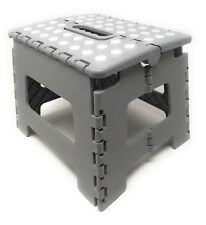 Folding Step Stool with Non Slip Dots Carrying Handle