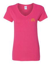 McDonalds Fashion Missy V-Neck T-shirt Embroidery NEW