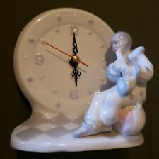 House Of Lloyd Porcelain Mime/Perriot Time Clown Clock New in Box