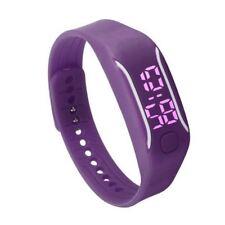 Orologio LED Sport Datario Digitale Silicone Bracciale Viola in Gomma Moda ora