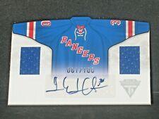 Henrik Lundqvist 2011-12 Titanium Home Sweaters Autograph Dual Jersey (61/100)